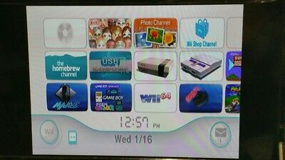 Nintendo Modded Wii Console bundle with over 2,000 games GameCube RVL-001