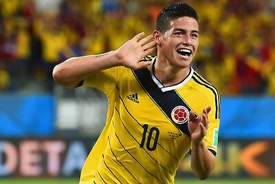 "James Rodriguez Football Star Fabric poster 20x13 / 36x24"" Decor 23"