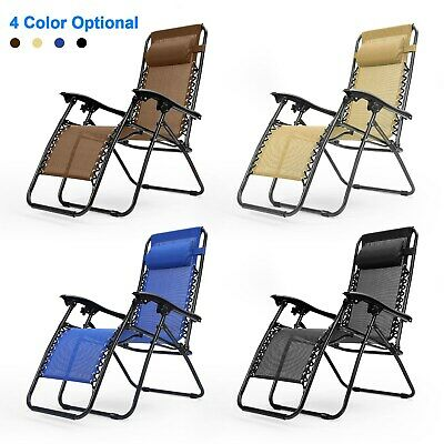 New Zero Gravity Chairs Case Of 1-or-2 Lounge Patio Chairs Outdoor Yard Beach