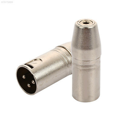 5B5A 3.5mm To XLR Male To Female Stereo Audio Adapter Microphone DVD