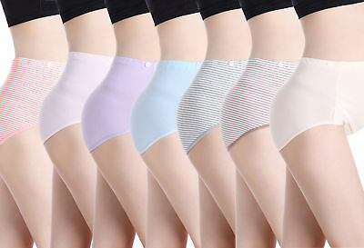 Ladies Womens Cotton Plain Maxi Full Briefs Pregnant Knickers Pants Panties