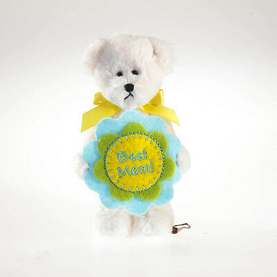 """BOYDS MOTHER'S DAY 5"""" PLUSH LIL FLOWER BEAR POPPY w/BEST MOM EMBROIDERED FLOWER"""