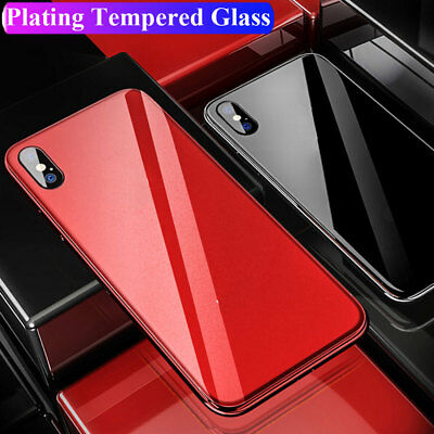 Slim Shockproof Tempered Glass Hybrid Case Cover for iPhone XS Max/XR/X 7 8 Plus
