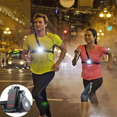 Nuit lumière Jogging Courir Running Cyclisme Poitrine Lampe Torche USB Charging
