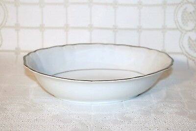 """Harmony House Fine China SILVER SONATA 3639 10 3/8"""" Oval Vegetable Serving Bowl"""