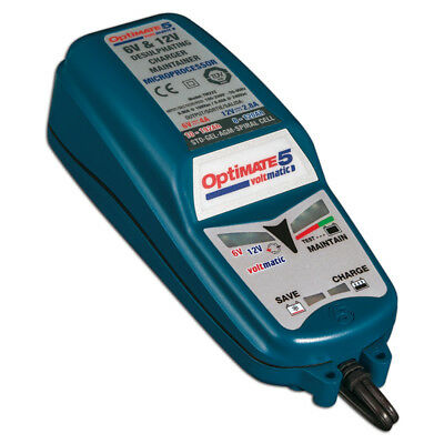 Tecmate Optimate 5 Voltmatic Batterie de Moto Chargeur Diagnostic Examen