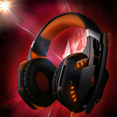 EACH 3.5mm Gaming Headset MIC LED G2000 Surround for PC Laptop PS4 Xbox One U2W0