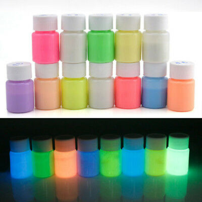 Multi Color DIY Acrylic Bright Pigment Glow in the Dark Luminous Paint DIY 20g