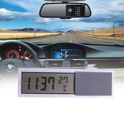 2 in 1 Car Digital LCD Display Watch Backlight Table Clock Snooze Thermometer US