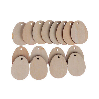 Easter Wooden Craft  Eggs DIY Natural Wood Household Tags Decorations  Hot!