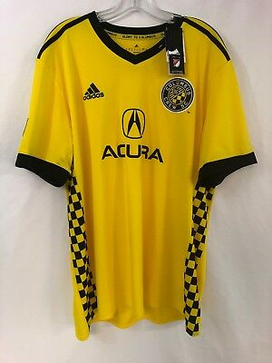 NWT ADIDAS CLIMA Cool 2017 18 COLUMBUS CREW MLS Soccer Jersey Men s ... 638097a02