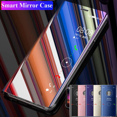 360 Flip Clear View Mirror Case for Huawei Mate 20 Pro/Lite/Y9 PSmart 2019 Cover