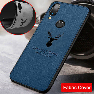 For Huawei P Smart P20 Pro 10 9 Lite Deer Cloth Silicone Case Soft TPU Cover