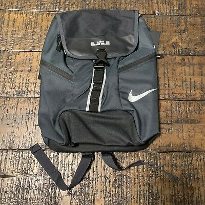 Nike Lebron Youth Max Air Ambassador Laptop Backpack Dark Gray Black BA5124  062 87afe4ed2d9ae