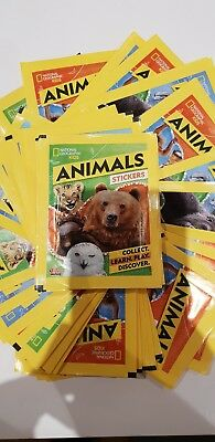 Topps National Geographic Kids Animals Sticker 10 Packets