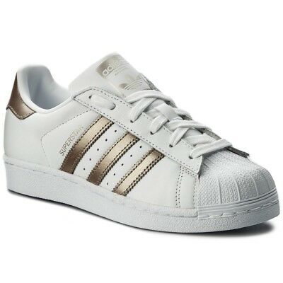 ADIDAS ORIGINALS SUPERSTAR Damen Weiss Gold EUR 81,95