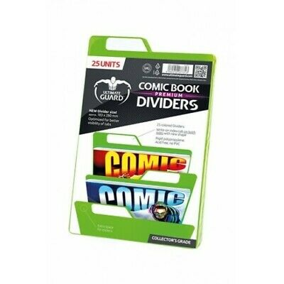 25 INTERCALAIRES POUR COMICS PREMIUM COMIC BOOK DIVIDERS VERT - Ultimate Guard -