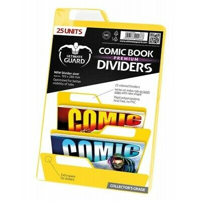 Ultimate Guard 25 Intercalaires Pour Comics Premium Comic Book Dividers Jaune -