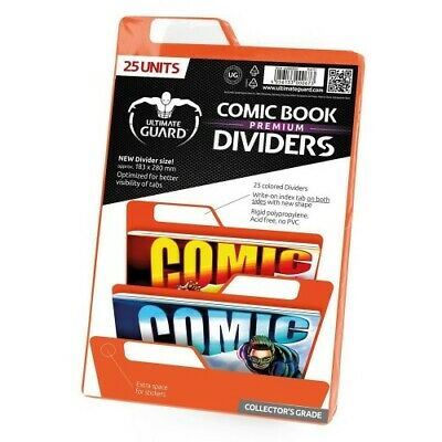 Ultimate Guard 25 Intercalaires Pour Comics Premium Comic Book Dividers Orange -