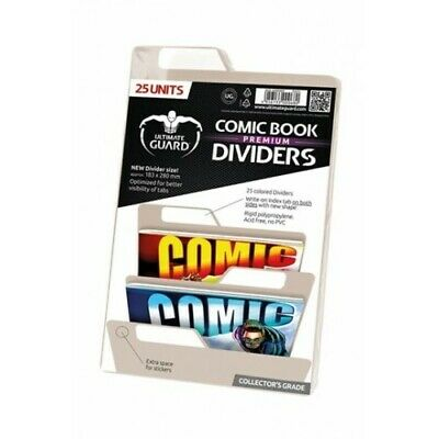 25 INTERCALAIRES POUR COMICS PREMIUM COMIC BOOK DIVIDERS SABLE - Ultimate Guard