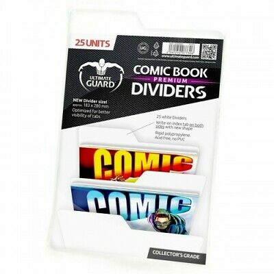 25 INTERCALAIRES POUR COMICS PREMIUM COMIC BOOK DIVIDERS BLANC - Ultimate Guard