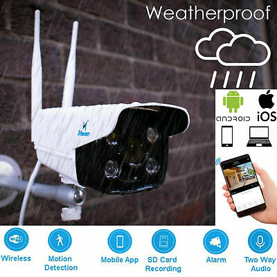 1080P Wireless WiFi IP CCTV Security Camera Outdoor Home Motion Sensor iPhone/PC