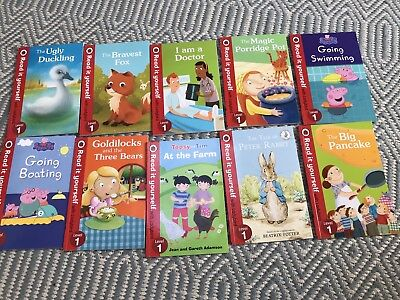 Read It Yourself with Ladybird Level 1 Bundle x 10 Including Peppa Pig