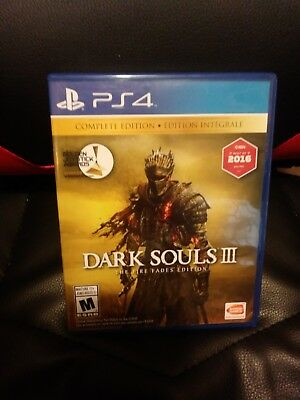 Dark Souls III: The Fire Fades Edition (Sony PlayStation 4, 2017)