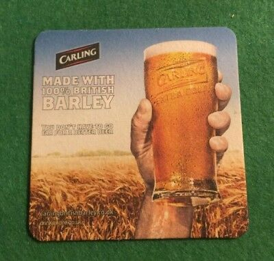 """Carling /""""Keep the Stories Going/"""" beer mat"""