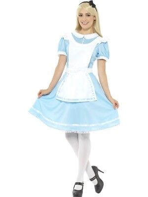 Wonderland Alice Womens Costume Ladies Fancy Dress Story Outfit