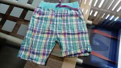 12 - 18 Months M&S Boys Shorts Blue White Purple Check