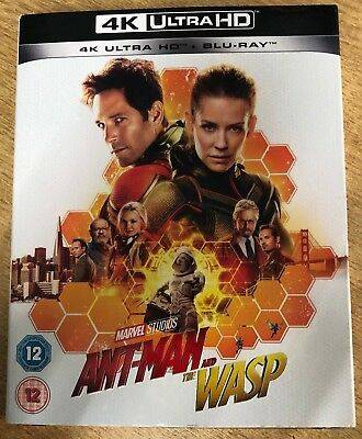 Marvel Ant-Man And The Wasp 4K Ultra Hd + Blu Ray New Sealed Genuine Uk Awesome