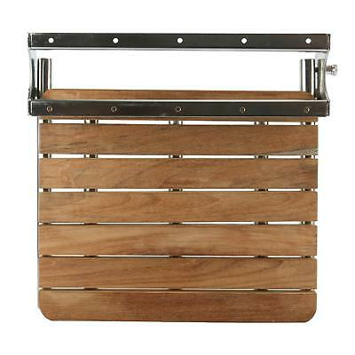 Teak Wall Mount Fold Down Shower Bench Seat Teakwood With Stainless Steel Frame