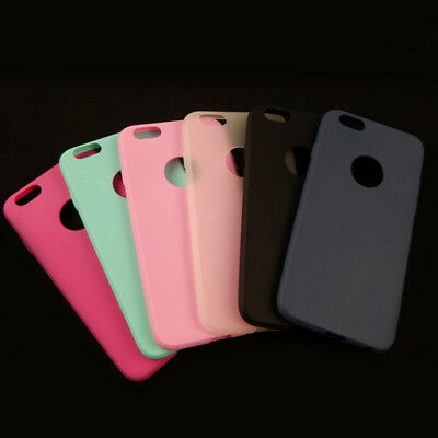 Ultra Thin Candy Color Soft Rubber TPU Case Cover For IPhone 6 4.7 6s 6Plus 5.5