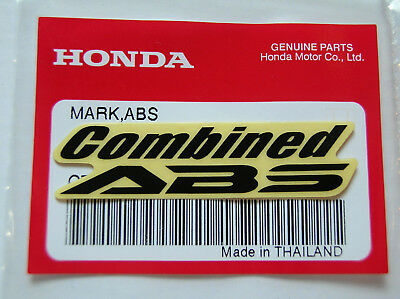 ORIGINAL Honda COMBINED ABS Aufkleber-Sticker-Logo-Emblem-Decal-Repsol/HRC-BLACK