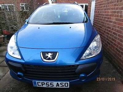 PEUGEOT 307 S HDi 1.6 DIESEL ESTATE - Blue - NON STARTER - SPARES/REPAIR/SCRAP