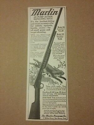 1915 Marlin .22 Pump Action Repeating Rifle Ad Model 20 New Haven, Conn
