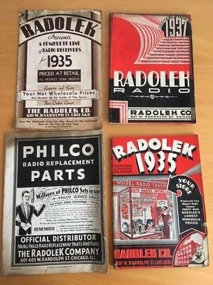 LOT of RARE Radolek catalogs 1930's radio ham shortwave Philco