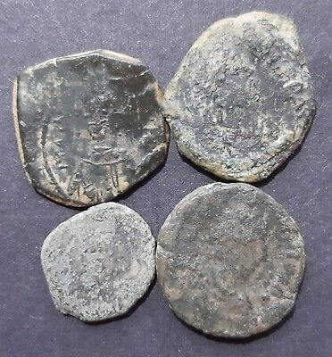 Byzantine bronze coins. Lot of 4 coins.