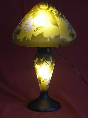 Galle Inspired Art Nouveau Style Mushroom Table Lamp
