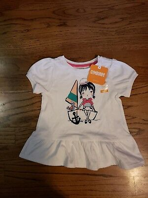 Nwt Gymboree Girls White Shirt 18-24Months
