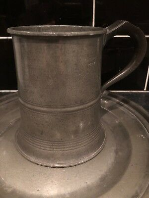 Pewter Tankard Antique Imperial Pint