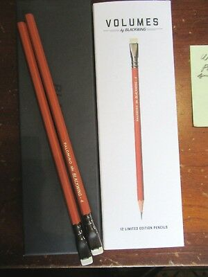 SET 2 NEW PALOMINO BLACKWING Pencil Volumes #4 Soft GRAPHITE Limited Edition