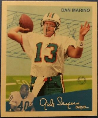 1997 Fleer Goudey II #13 Dan Marino Miami Dolphins Hall Of Fame Quarterback
