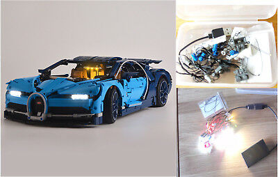 LED Light Kit for LEGO 42083 Technic Bugatti Chiron USB & Battery Box