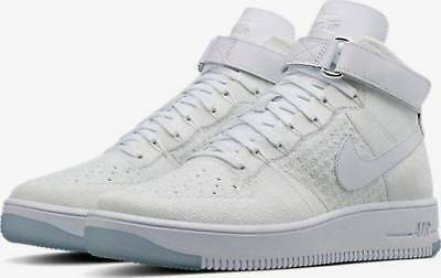 sports shoes 1c376 48d56 New Nike Air Force 1 Ultra Flyknit Mid Triple White 817420-100 Size 11.5 -