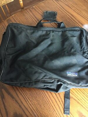 "Patagonia Bag Black Abt 24""x17"" Carry On Luggage  Soft Suitcase Duffel/ Backpack"