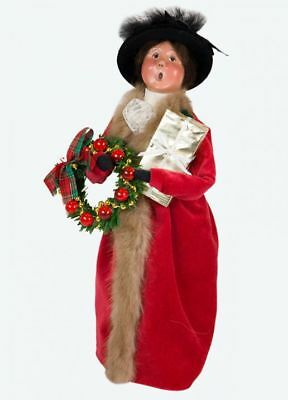 Byers Choice Victorian Woman with Gift