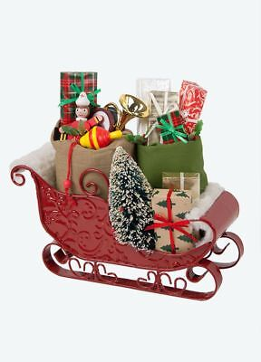 +Byers Choice Sleigh with toys New