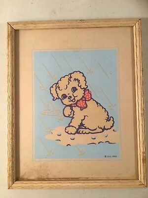 Vintage Magic Picture Infants Specialty Co 1943 Puppy Dog Bed Glow In Dark  JN
